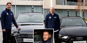 بازیکنان رئال مادرید خودروهای آئودی را تحویل گرفتند.